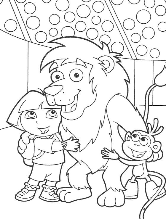 Coloriage dora au cirque gratuit imprimer - Jeux de dessin dora ...
