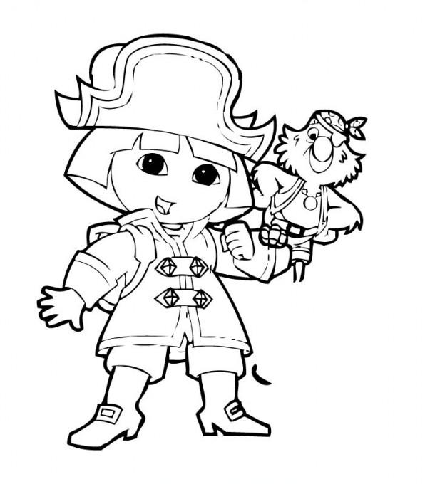 Coloriage dora en pirate gratuit imprimer - Coloriage pirate fille ...