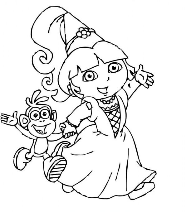Coloriage dora en princesse gratuit imprimer - Coloriage princesse a imprimer gratuit ...