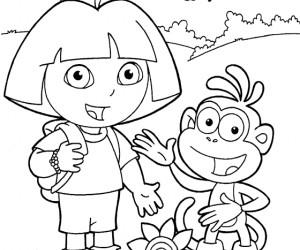 Coloriage dora gratuits pour enfants dessin dora colorier - Jeux de go diego ...