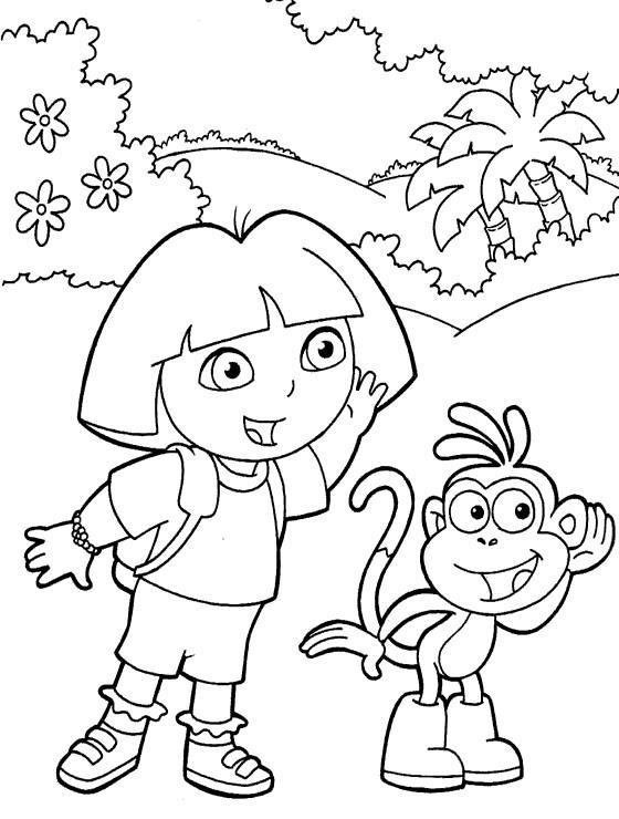 coloriage Dora qui chante pour enfants