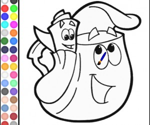 Jeu coloriage dora sac dos gratuit - Jeux de dessin dora ...