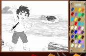 Diego à la plage de surf