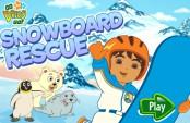 Diego fait du snowboard