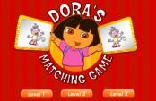 Dora jeu des doubles cartes
